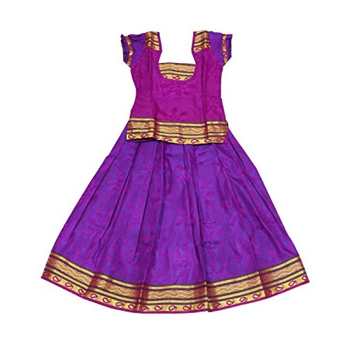 Kanakadara Self Design Girl's Lehenga Choli