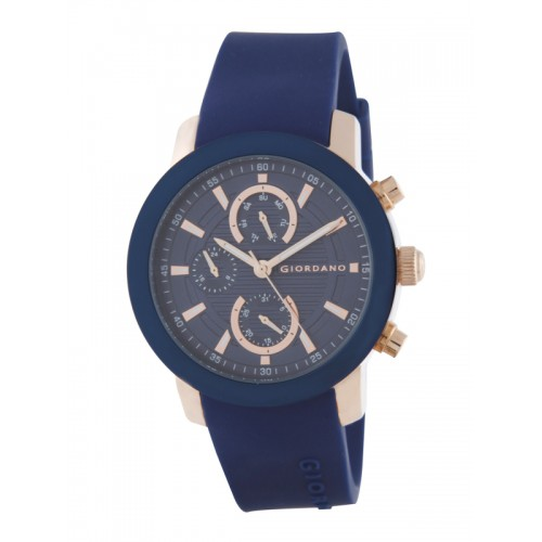 GIORDANO Men Navy Blue Multifunction Analogue Watch 1886-05