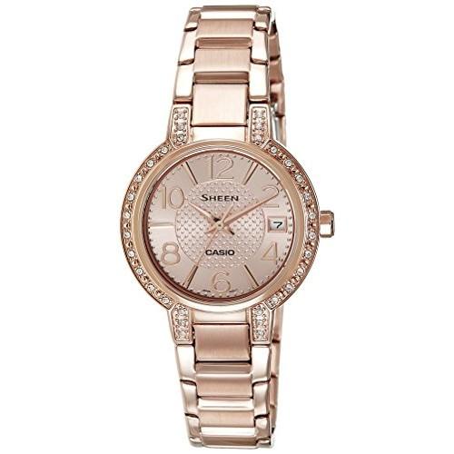 Casio Sheen Analog Rose Gold Dial Women's Watch -4804PG-9AUDR (SX130)