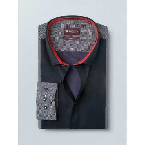 INVICTUS Men Navy & White Slim Fit Printed Semiformal Shirt
