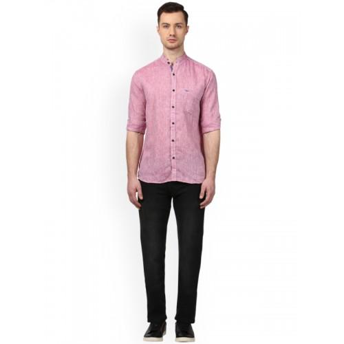 Buy Park Avenue Men Pink Smart Slim Fit Solid Semiformal Shirt
