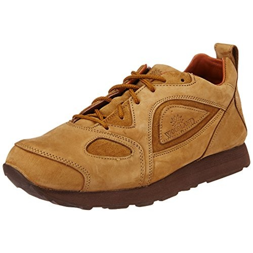 Woodland Camel Men's Nubuck Leather Sneakers