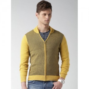 Mast & Harbour Men Yellow Sweater