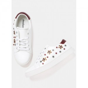 Dressberry White Casual Sneakers
