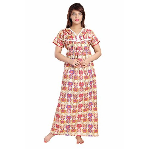 Buy Soulemo Multicolor Womens 100% Pure Cotton Nighty online ... 9e989c274