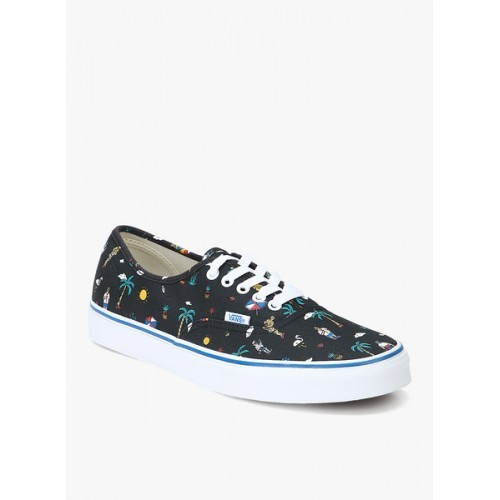 ce42d768905f74 Buy Vans Black Printed lace-Up Men Sneakers online