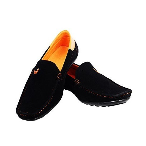 ALESTINO Black Synthetic Leather look Men Casual Shoes