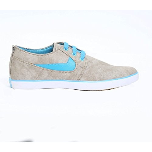 Shoe Mate Sky Blue Synthetic Leather Shoes