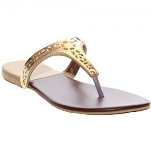 Karat Gold Synthetic Chappals
