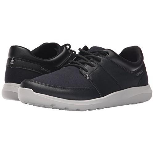 Buy crocs Men's Black Leather Lace Up
