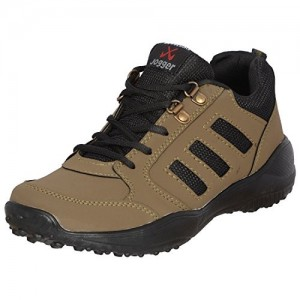 Welcome Brown Synthetic & Mesh Lace Up Sports Shoes