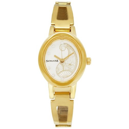 Sonata Wedding Analog White Dial Women's Watch - 8085Ym02