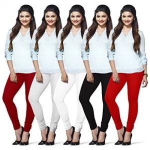 Lux Lyra Cotton Leggings- Pack of 5