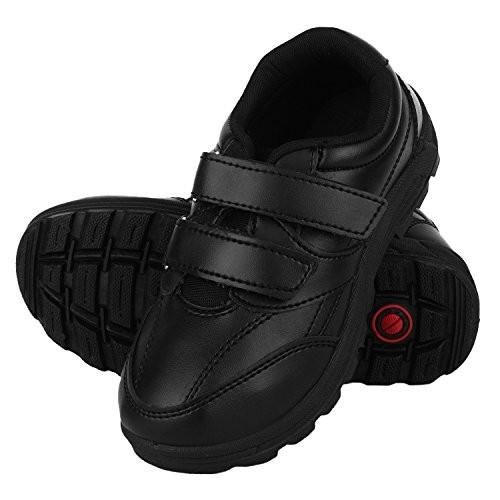 FUEL Kid's Boys Formal Velcro Closure School Shoes - Black