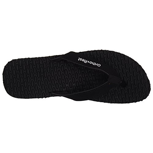 Ortho + Rest Black Rubber Slippers