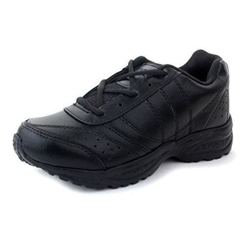 Touchwood Black School Shoes for Boys and Girls (For 7 yrs and above)