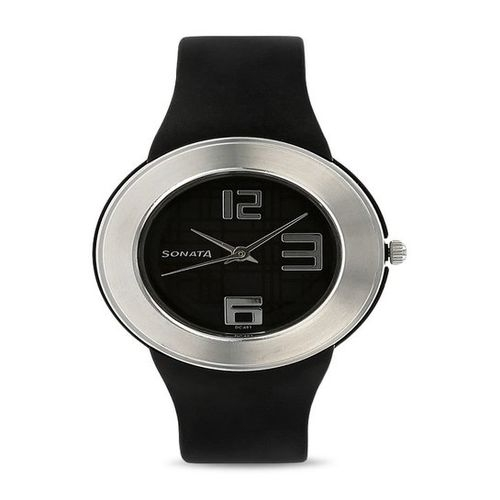 Sonata Fashion Fibre Analog Black Dial Unisex Watch - NF8991PP03J