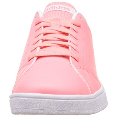 best sneakers 308b9 6337b ... cheapest adidas neo pink leather lace up sneakers 971a2 d2bc8