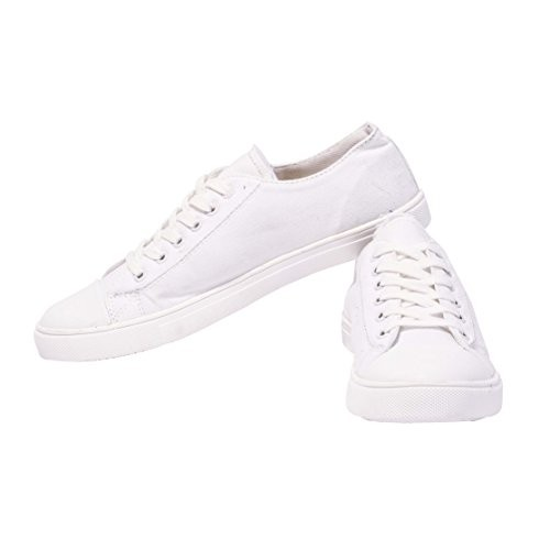 Boysons White Canvas Casual Sneakers Shoes