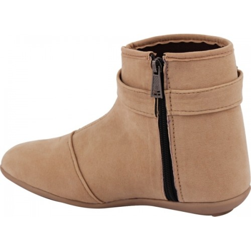 ABJ Fashion Beige Synthetic Casual Boots