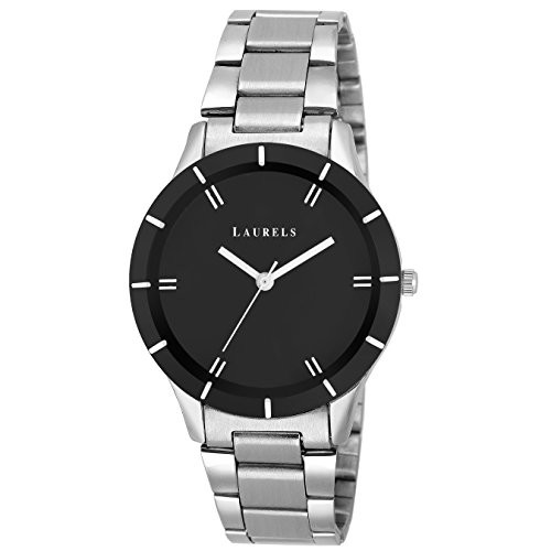 Laurels Analogue Black Dial Womens Watch-Lo-Colors-020207