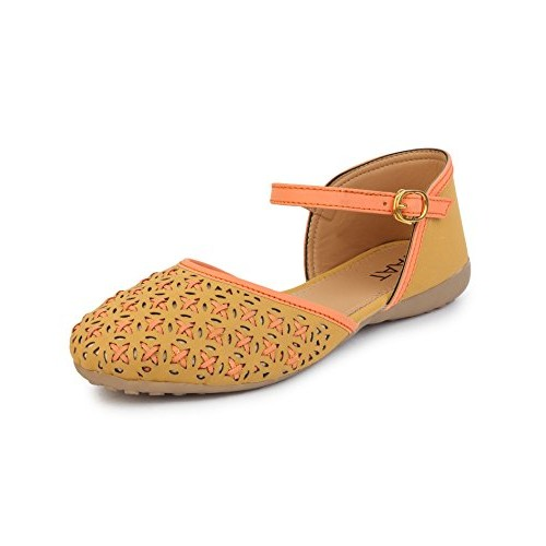 Taat Mustard Napa Leather Fashion Belly Shoe