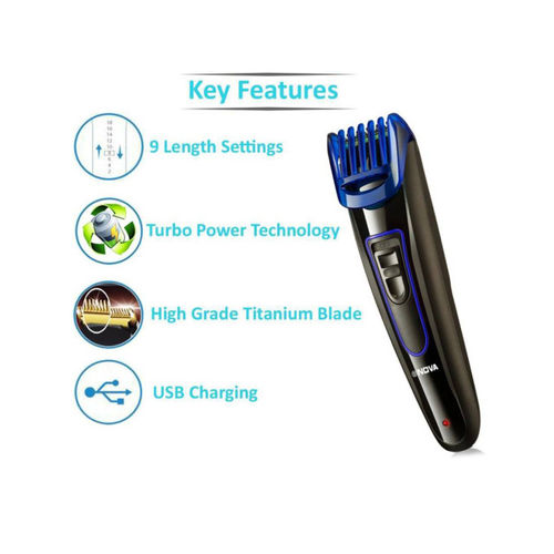 Nova NHT 1071 Dura Power Titanium coated USB Trimmer For Men