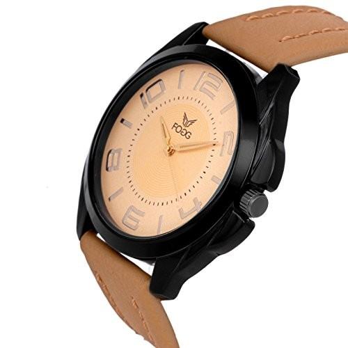 Fogg Analog Gold Dial Men's Watch 1121-GL