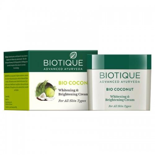Biotique Coconut Whitening & Brightening Cream (50gm)