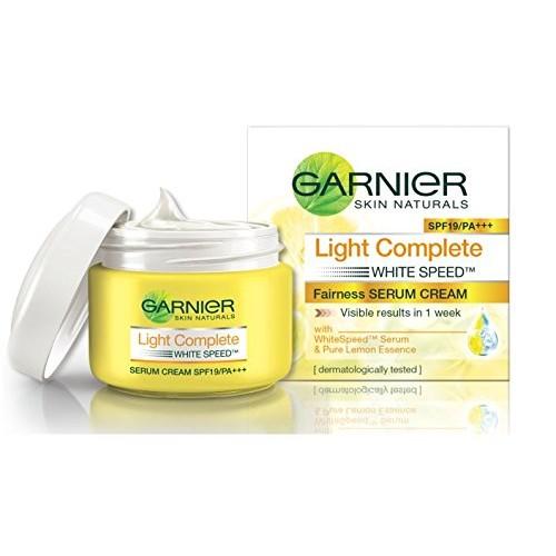 Garnier Light Complete White Speed Fairness Serum Cream, 40g