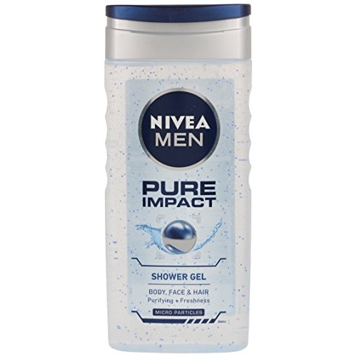 Nivea Pure Impact Shower Gel for Men, 250ml