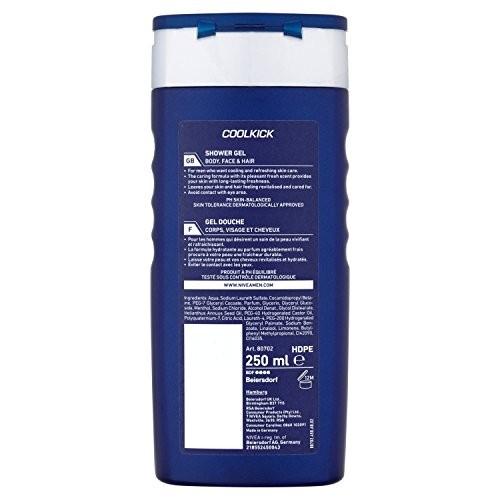 Nivea Bath Care Shower Gel Cool Kick for Men, 250 ml