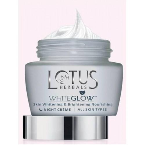 Lotus WhiteGlow Skin Whitening & Brightening Nourishing Night Cream ( 60g )