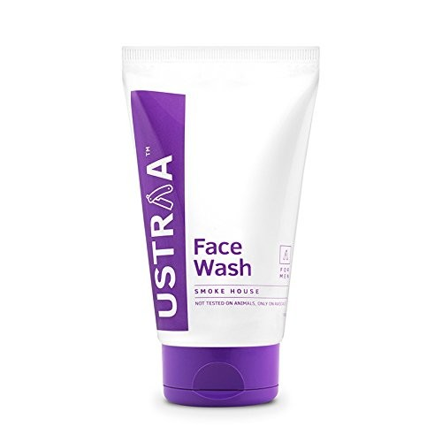 Ustraa Face Wash with Activated Charcoal, Smoke House, 100g