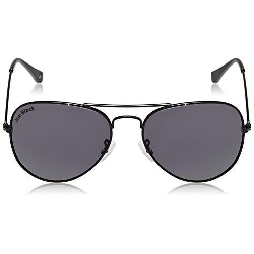 Joe Black Aviator Sunglasses (Shiny Black) (JB 111 |C2|58)