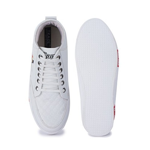 Trase Jazz White Sneakers / Casual Shoes for Boys / Men