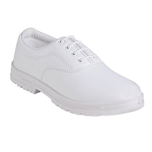 Liberty Unisex School White Shoes