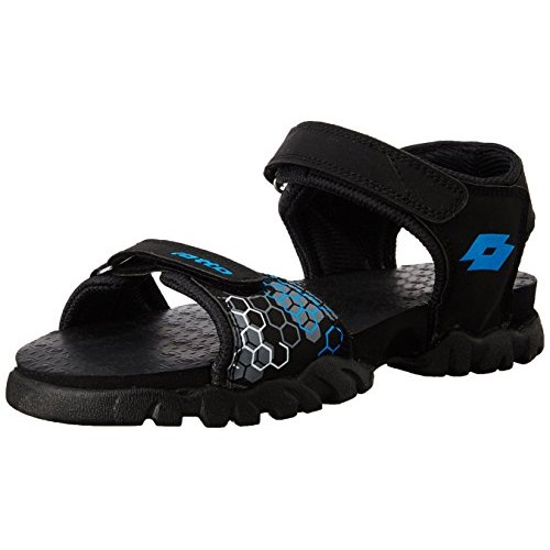 Lotto Black Sandals and Floaters