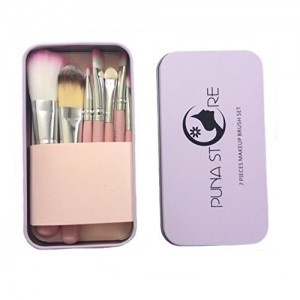 Puna Store Pink Make Up Brush Set, 7 Pieces