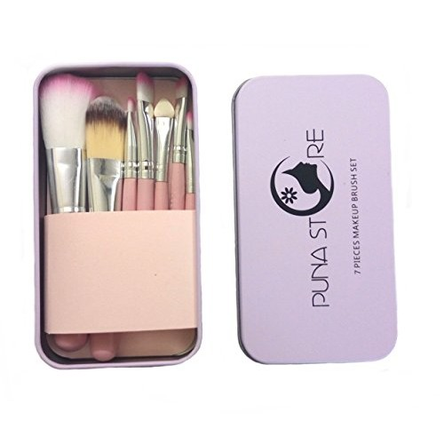 Puna Store Pink Make Up Brush Set, 7 Pieces