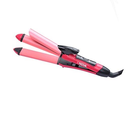Nova NHS-800 Pink Essential 2 in 1 Hair Straightener and Curler