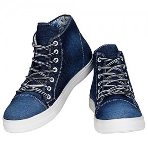 Kraasa Premium Girls Star Denim Sneakers