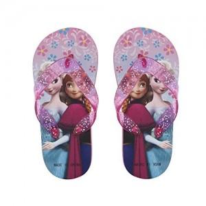 73ee0c98b Lil Firestar Girls Casual Flip Flops   House Slippers(Frozen Glitter Straps)