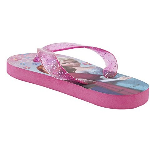 Lil Firestar Girls Casual Flip Flops & House Slippers(Frozen Glitter Straps)
