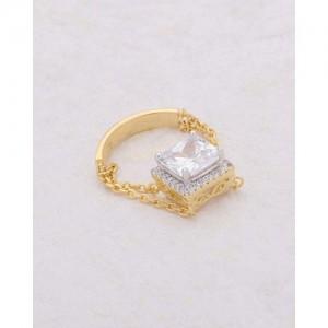 Voylla Elegant Cz Embellished Ring