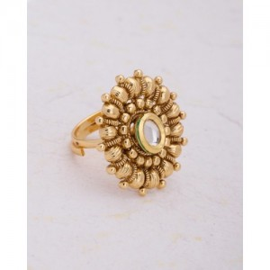 Voylla Ethnic Finger Ring With Textured