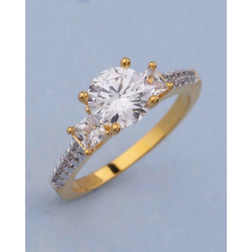 Voylla Ring With Shiny Cz Embellishment