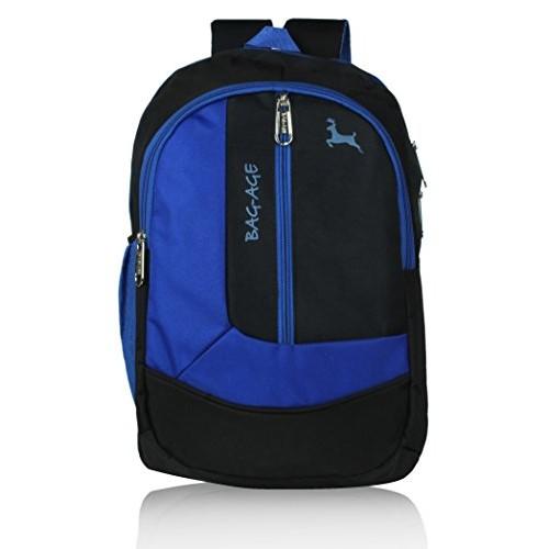 ... bag age zuma polyester 30 ltrs black blue school backpack ... fbed340645adb