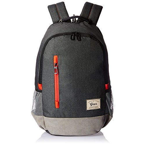 Gear Classic 24 Ltrs Charcoal Grey-Red Casual Backpack (BKPCMPUS80406)