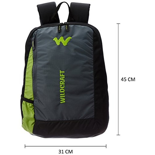 Wildcraft Streak Nylon 20 Ltrs Green Softside Laptop Bag (8903338009542)